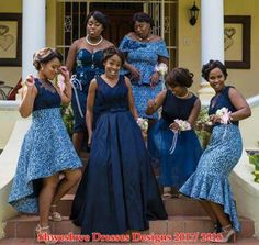 Beautiful Shweshwe Dresses Designs For Ladies - Pretty 4 African Bridesmaid Dresses, African Wedding Attire, African Attire, African Wear, African Dress, African Weddings, Ankara Dress, African Lace, Traditional African Clothing