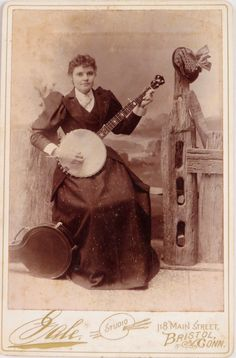 Woman with banjo
