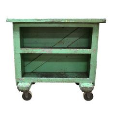 Industrial Workbench Green now featured on Fab.