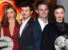 Miranda Kerr's New and Old Engagement Rings.  The 33-year-old Australian native confirmed her engagement to Snapchat CEO Evan Spiegel Wednesday afternoon with a black and white photo of a stunning rock perched on her left hand. But, how does the rock compare to the piece of jewelry her ex-husband Orlando Bloom gifted her in 2010?   http://www.eonline.com/news/781455/a-tale-of-two-diamonds-comparing-miranda-kerr-s-new-and-old-engagement-rings  #UGILabs #engagementrings #mirandakerr