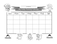 Potty Chart for All Fun Activities