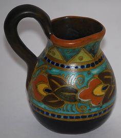 Gouda Pottery 1925 Danier Miniature Pitcher from Just Art Pottery