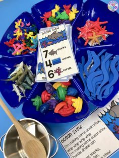 Ocean Counting Stew! A fun game for preschool, pre-k, and kindergarten to practice counting, sorting, and identifying numbers!
