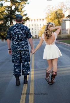 Engagement, Country, Military, Navy, Cute, Love, Fiancé, Husband, Cowgirl, Boots, Vintage @goldglittergoddess on Instagram