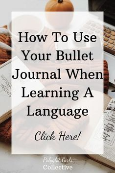 """this post I show you how you can use your bullet journal to learn languages! """"learningIn this post I show you how you can use your bullet journal to learn languages! Why Learn French, Learn French Beginner, Learn French Online, How To Speak French, Learning French For Kids, Learning Italian, Learning Spanish, Teaching French, Spanish Activities"""