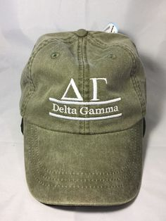 Delta Gamma Sorority Hat- Olive Green - Brothers and Sisters' Greek Store