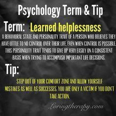 Learned Helplessness-AKA- Victim Mentality. Loring Therapy's latest Blog- http://loringtherapyllc.blogspot.com/2014/11/learned-helplessness-aka-victim.html