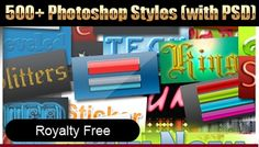 Royalty Free Photoshop Styles Mega Pack