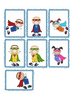 Use these Superhero name tags in your classroom to label book boxes, desks, books, and more. The kids will love these! *Superhero Kids Graphics co. Superhero Kindergarten, Superhero Classroom Theme, Superhero Kids, Preschool Kindergarten, Classroom Themes, Preschool Activities, School Decorations, School Themes, School Ideas
