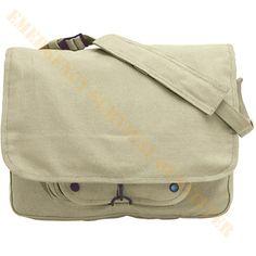 Khaki Tan Canvas Laptop Mens Shoulder Bag Crossbody Messenger Tote My Bags f06415a87bc57