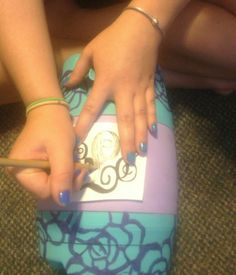 Crafting: How to Paint A Cooler (with a design-transfer)! - Sorority Stylista - sororitystylista.com - Where Sorority Meets Style