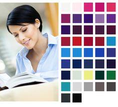 Winter colour palette: cool, deep, bright