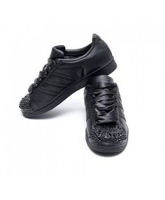 adidas superstar black - deals adidas superstar rose gold, glitter, holographic, black trainers for mens & womens, cheapest price with top quality assurance. All Black Sneakers, Black Shoes, Superstars Shoes, Star Wars, Crystal Shoes, Black Crystals, Adidas Superstar, Black Adidas, Shoe Sale