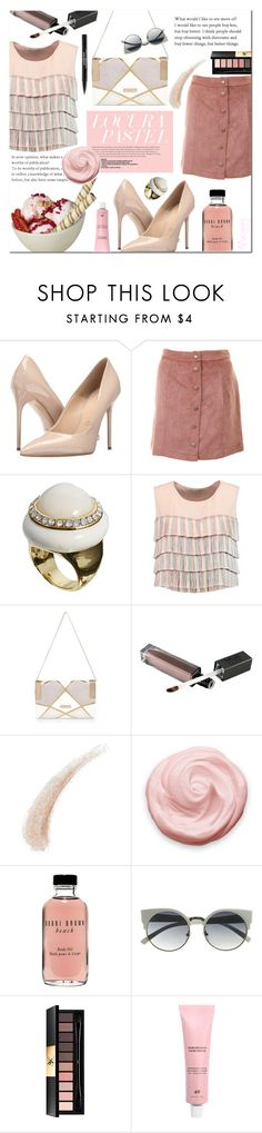 """Ice cream and moonlight"" by ana-mag ❤ liked on Polyvore featuring Massimo Matteo, Johnny Loves Rosie, Alexis, River Island, Kevyn Aucoin, Bobbi Brown Cosmetics, Yves Saint Laurent and Trish McEvoy"