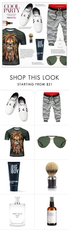 """Cool Party - Newchic"" by yoa316 ❤ liked on Polyvore featuring Gucci, 21 Men, The Art of Shaving, Jimmy Choo, men's fashion and menswear"