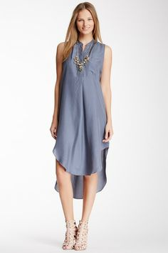 Washable Silk Shirt Tail Dress by Minnie Rose on @HauteLook