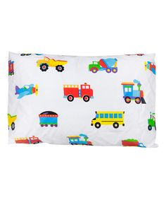 Look at this Trains, Planes, Trucks Toddler Pillowcase on #zulily today!