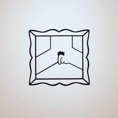 """Anti-Courbet avec """"la fin du monde"""" de Frédéric Duprat (1998 adhésif FRAC Aquitaine) #Expo #Loftstory #CIAM #LaFabrique Université #Toulouse - Jean Jaurès : """"un ensemble dœuvres emblématiques de lart et du design contemporains réunies sous le prisme de lhumour"""" (16/12) Oeuvres des #FRAC Aquitaine Languedoc-Roussillon de @lesabattoirs - Frac Midi-Pyrénées @platformfrac et de la collection Jean & Annie Galvani :  Ron Arad John M Armleder Elisabeth Ballet Jean-Marie Blanchet Sébastien Blanco…"""
