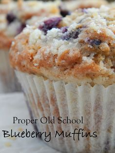 Proper Old School Blueberry Muffins With Plain Flour, Baking Powder, Bicarbonate. Blueberry Muffins Recipe Uk, Blueberry Yogurt Cake, Blueberry Oatmeal Muffins, Savory Muffins, Blueberry Recipes, Blue Berry Muffins, Muffin Recipes, Cake Recipes, Bread Recipes
