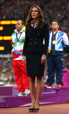 Kate Middleton in Scarf and Blazer