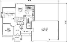<3 <3 Floor Plans AFLFPW14111 - 2 Story Prairie Home with 4 Bedrooms, 2 Bathrooms and 2,518 total Square Feet