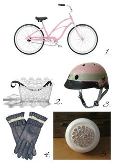 glamorous bicycle accessories