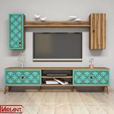 Dose Of Modern Class S - Walnut, Turquoise TV Unit - Walnut Turquoise TV Unit - Walnut Turquoise White Tv Unit, Flat Interior Design, Corner Tv Stands, Flat Screen Tv Stand, Buy Tv Stand, Tv Unit Furniture, Bedroom Turquoise, Tv Unit Design, Framed Tv
