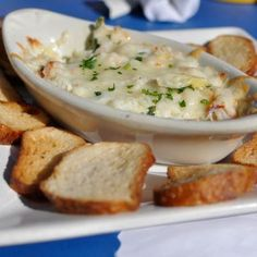 If your house was a restaurant, your family and guests would order this appetizer dip! This Crab Artichoke Dip Appetizer is an all-time best selling appetizer. Dip Recipe from Real Restaurant Recipes Shrimp And Crab Dip, Crab And Artichoke Dip, Seafood Dip, Shrimp And Lobster, Seafood Bake, Seafood Buffet, Appetizer Dips, Appetizer Recipes, Delicious Appetizers