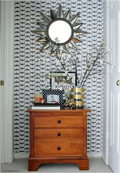 bring some pattern to the nook in the upstairs hallway