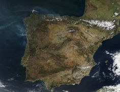 nasa image of the day | NASA MODIS Image of the Day: April 3, 2012 - Fires on the Iberian ...
