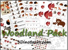 Cute preschool/kindergarten worksheets in a nice woodland theme great for boys and girls!