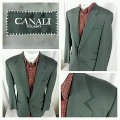 Canali Milano two button wool blazer/sport coat. Size EURO50R, U.S.40R.  #Canali #TwoButton #jacket #sportcoat