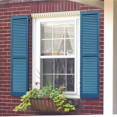 A pair of unfinished window shutters that you can paint to match your front door and give your home some old-fashioned charm. 31 Things From Walmart That'll Help You Renovate Your Home Window Shutters Exterior, Cedar Shutters, Green Shutters, House Shutters, Wooden Shutters, Exterior Paint, Outside Window Shutters, Home Exterior Colors, Repurposed Shutters