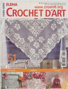 Журнал: Elena Crochet D'Art 01 (вязание, салфетки)