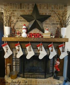 Owen Family Six: Christmas Mantle ~ 2013