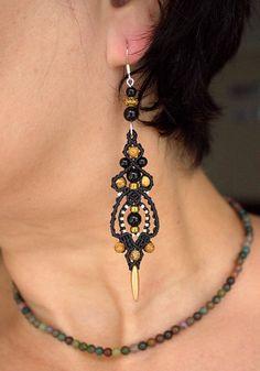 BEAUTIFUL BOHEMIAN BLACK With copper shades Macrame Women