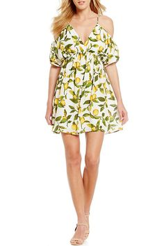 5399bcca25d Gianni Bini Molly Lemon-Print Dress Lemon Print Dress