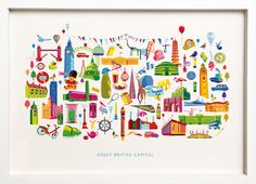 London Montage by Nicola Mecalfe - see www.bespokeframing.com for more information on this Featured Artist for April 2014