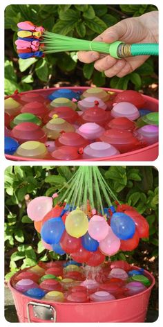 How to tie & fill over 100 water balloons in a minute! (biodegradable too)