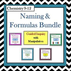 Chemistry periodic table trends guided inquiry lesson chemistry chemistry naming formulas guided inquiry bundle urtaz