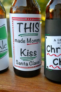 Make Homemade Christmas beer labels:)