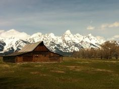 Wyoming's (Jackson) most photographed barn, which lies in front of the Grand Tetons.  So beautiful!