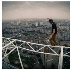James Kingston balancing his life at the top of the world.