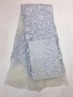 JSDCJCS1-2 african french lace fabric high quality 3D floral african tulle  lace fabric for 9e629e2dbf39