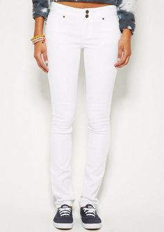 Jayden Skinny in White - View All Jeans - Jeans - Clothing - dELiA*s College Girl Fashion, College Girls, All Jeans, Mid Rise Skinny Jeans, Virtual Closet, Jean Outfits, White Jeans, Pants, Fashion Tips