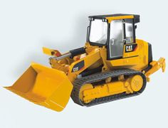 The Caterpillar Track Loader from the Bruder Construction collection - Discounts on all Bruder Toys at Wonderland Models.    One of our favourite models in the Bruder Construction range is the Bruder Caterpillar Track Loader.    This Caterpillar Track Loader features a fully-functioning loading arm complete with locking mechanism and easy one-handed operation, a rear-mounted adjustable scarifier, a fully-glazed cab with opening doors and real link caterpillar tracks (not rubberised belt…