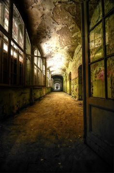 An abandoned sanatorium in Germany.  If you listen, you can almost hear the screams.