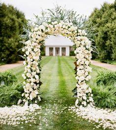 White Wedding Arbors - GARDEN STYLE WEDDING ARBOR