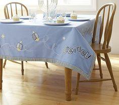 Hanukkah Tablecloth #PotteryBarnKids
