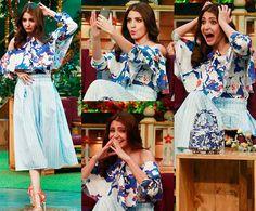 When Anushka Sharma went bonkers on The Kapil Sharma Show – watch HQ Pics #FansnStars Anushka Sharma, Kapil Sharma, Bollywood, Upcoming Films, Virat Kohli, Ranbir Kapoor, Katrina Kaif, Shahrukh Khan, Photoshoot